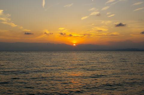 片瀬海岸夕景