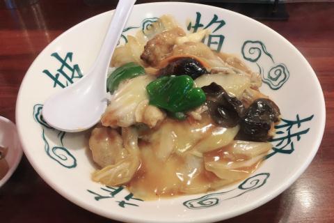 牡蠣中華丼